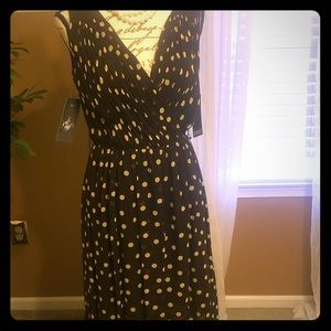 Polka Dot Dress/Brown Cream